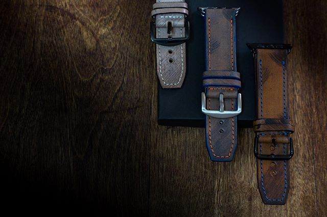 Fresh out the workshop! Handmade leather straps for your Apple Watch ⌚️ #apple #applewatch #tech #handmade #iphone #holidays #giftideas #strapley #bespoke #iphone #iphone7 #bespoke #handmade
