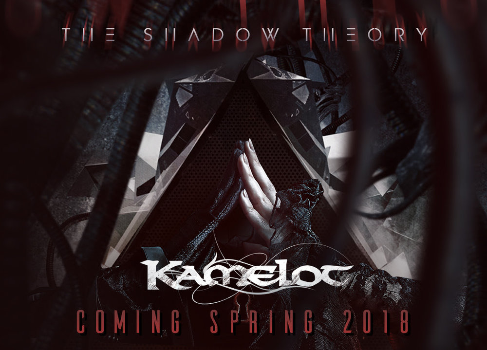 The rumors are true:   KAMELOT  are set to release a brand new masterpiece in 2018 and now the band has unveiled the album's title:     The Shadow Theory       The Shadow Theory   is here! Coming this spring on Napalm Records!   The new album features all the signature elements of  KAMELOT  and also sees the band step out to add new and industrial elements along while combining amazing emotions that harken to the band's earlier days.  KAMELOT 's  epic music is chock full of symbolism relating to how the band feels about the world and the current state of civilization.  More news and details regarding   The Shadow Theory   – including album artwork - will be made available soon!  Following the release of   The Shadow Theory  ,  KAMELOT  will embarque on a massive World Tour, starting in North America during April/May 2018 followed by European shows in Summer 2018 in support of The Shadow Theory. The band will return to Europe in September/October 2018 for their biggest headliner tour to date.    Today the very first show of the upcoming  The Shadow Tour  has been announced! Grab your tickets now, as pre-sales are up and running!