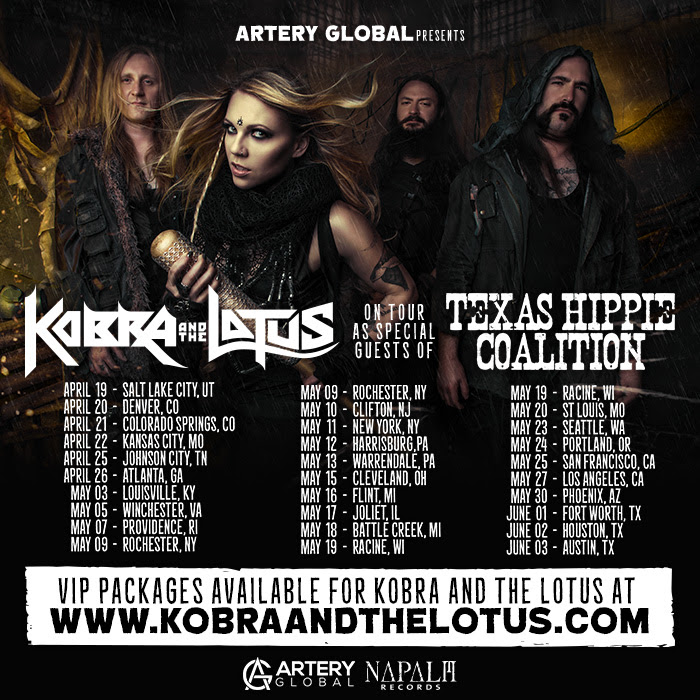 Many more  KOBRA AND THE LOTUS  dates to be announced soon!    For More Info On KOBRA AND THE LOTUS Visit:   www.facebook.com/KobraAndTheLotus     www.kobraandthelotus.com     www.napalmrecords.com