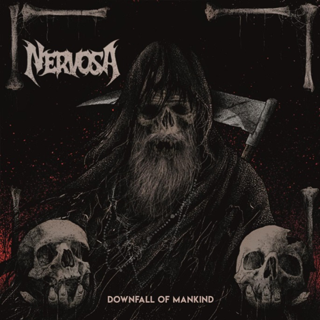Downfall of Mankind   track listing:  1. Intro  2. Horrordome  3. Never Forget, Never Repeat  4. Enslave  5. Bleeding  6. ... And Justice for Whom?  7. Vultures  8. Kill the Silence  9. No Mercy  10. Raise Your Fist!  11. Fear, Violence and Massacre  12. Conflict  13. Cultura do Estupro  14. Selfish Battle (Bonus Track)    Downfall of Mankind   is available in the following formats:  1 CD Digipack  1 LP Gatefold  Digital Album    Pre-Order your copy  HERE .   Tour Dates:   13.07.18 DE - Milmersdorf / Headache Inside 14.07.18 DE - Torgau / In Flammen 17.08.18 CZ - Litomerice / Death Coffee Party 25.08.18 AT - Spital am Semmering / Kaltenbach Open Air 30.08.18 CH - Luzern / Schüür 31.08.18 CH - Hauteville / Abyss Festival 01.09.18 BE - Chapelle-Lez Herlaimont / Cercle Metal Festival 02.09.18 UK - Edingburg / Heavy Scotland   Line-up:  Fernanda Lira - Vocals & Bass Prika Amaral - Guitars & Backing Vocals Luana Dametto - Drums   For More Info Visit:   www.facebook.com/femalethrash   www.nervosaofficial.com
