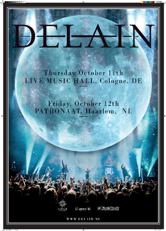 """While currently on an extensive tour in the US, DELAIN are working on the follow up to their chart hitting record Moonbathers, due 2019.  Bridging the gap between studio records is their first ever live DVD """"A Decade of Delain - Live at Paradiso"""" released October 2017, and - proving themselves to one of the most productive bands in the game - Delain are now announcing an exciting new EP due fall 2018!  To celebrate the EP release, DELAIN will perform two intimate headline shows on the 11th and 12th of October 2018, during which fans will get a taste of the new DELAIN!   11th October Live Music Hall Cologne  TICKET LINK  https://bit.ly/2vONYmt  Ticket hotline +49 4827 999 666 66    12th October Patronaat Haarlem  TICKETLINK - https://bit.ly/2HTwGte   Aside European festivals and a South American Tour with NIGHTWISH, these will be the only DELAIN club shows for 2018. Details of the upcoming EP are yet to be disclosed. Keep an eye on the bands socials and website to be the first to know!  DELAIN are currently on tour in the US   - 16/04/2018 Louisville - Mercury Ballroom - 17/04/2018 Charlotte - Filmore Underground - 18/04/2018 Silver Springs - The Filmore - 20/04/2018  New York - Irving Plaza   - 22/04/2018 Montreal - Metropolis - 23/04/2018 Toronto - The Opera House - 25/04/2018 Albany - Upstate Concert Hall - 26/04/2018 Pittsburgh - Carnegie Music Hall - 27/04/2018 Chicago - Concord Music Hall - 28/04/2018 Minneapolis - The Caboose - 29/04/2018 Des Moines - Wooly's - 01/05-2018 Denver - Ogden Theater -02/05/2018 Salt Lake City - Complex -04/05/2018 San Jose - City National Civic -05/05/2018 Anaheim - Grove Anaheim -06/05/2018 Phoenix - Marquee Theater - 08/05/2081 Dallas - House of Blues -09/05/2018 Houston - House of Blues -11/05/2018 Atlanta - Center Stage -12/05/2018 Orlando - House of Blues -13/05/2018 Ft. Lauderdale - Revolution  EUROPEAN Festivals  -23/06/2018 Ciudad de Alameda - CAMOROCK -10/08/2018 Leeuwarden - INTO THE GRAVE - 16-17-18/08/2018 - CZAD Poland"""