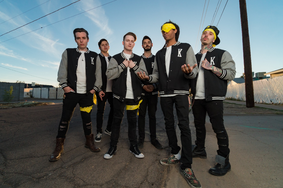"""[photo by Chucky Guzman]           Just a few weeks ago, the Arizona-based six pack  DROPOUT KINGS  released the single  """"Scratch&Claw"""" of their debut album   AudioDope   which will be released on August 10 via Napalm Records. Today the band strikes again and releases  """"Going Rogue"""" !  The band about  """"Going Rogue"""" :  """"A few of us in this band were in another band before this, together called """"The Bad Chapter"""" That band broke up, and we basically split into two bands. One band became """"Dropout Kings"""" the other turned into a band called """"Going Rogue"""" hence, the title of the track. Eventually, we brought the two bands together creating the final line-up of this band. We thought it would be a cool homage to our past situation by naming the song that. The song itself is basically just about flexin' and being confident and just knowing you the shit! Anytime you're really feelin' yourself I want you to play this track so you can remind yourself you the shit!""""   Watch the brand new music video for   """"Going Rogue   """"   HERE !   Watch the music video for   """"Scratch&Claw""""    HERE  !  Pre Order   AudioDope     HERE  !    AudioDope    track listing:   1. Something Awful 2. Burn1 3. Going Rogue (ft. Landon Tewers) 4. Been A Bad Day 5. 503 6. Nvm 7. Scratch&Claw 8. 20 Heads 9. Street Sharks 10. AudioDope    Currently the band is on tour with  OTEP  in North America.    05.07.18 US - Las Vegas, NV / Hard Rock Hotel & Casino* 06.07.18 US - Salt Lake City, UT / Metro Music Hall* 07.07.18 US - Grand Junction, CO / Mesa Theatre* 08.07.18 US - Denver, CO / Oriental Theater* 09.07.18 US - Colorado Springs, CO / Black Sheep* 11.07.18 US - Merriam, KS / Aftershock* 12.07.18 US - Sioux Falls, SD / Icon Lounge* 13.07.18 US - Cadott, WI / Rock Fest - hosted by Lou Brutus 14.07.18 US - Joliet, IL / The Forge# 15.07.18 US - Detroit, MI / Diesel Concert Lounge# 17.07.18 US - Toronto, ON / The Rockpile 18.07.18 US - Ottawa, ON / Brass Monkey 19.07.18 US - New York, NY / Gramercy Theatre - w/ Kore"""