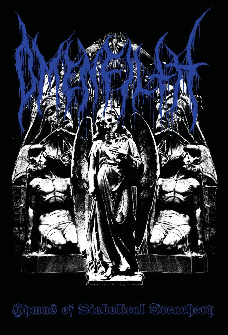 """... the band uses melodic riffing channeled through a raw sound reminiscent of early Rotting Christ and Varathron combined with elements of  Worship Him  - era Samael. Layered on top of this concoction is a veneer of black thrash with the use of ripping guitar solos."" -- Decibel   San Pablo City-based black metal legion  OMENFILTH  will release a limited cassette edition of their  Hymns Of Diabolical Treachery  full-length next month via Eternal Death Records. Featuring members of long-running death metal behemoths Pathogen,  OMENFILTH  was spawned from the abyssal crypts of the Philippines and spews forth vehement black metal terror reminiscent of early Rotting Christ, Varathron, Necromantia, and Samael.  In celebration of  Hymns Of Diabolical Treachery 's cassette debut, Decibel Magazine today offers up ""Under The Scythe Of The Infidel"" for public feasting. ""The song was written around August of 2016,"" says  OMENFILTH  guitarist/vocalist Willie Desamero. ""I was listening a lot at that time to Necrophobic's  The Nocturnal Silence  album and I thought of writing something along the same lines but try to make a couple of the verses sound like '80s thrash, such as Sodom or Iron Angel. Regarding the lyrics, it is about anti-religious extremism/terrorism and about 'infidels' having victory over people pushing that agenda.""   Hear   ""Under The Scythe Of The Infidel,"" courtesy of Decibel, at  THIS LOCATION .   Self-produced and initially released on CD via Nero One Records,  OMENFILTH 's    Hymns Of Diabolical Treachery  showcases the band's curious duality with Side A highlighting their classic, maniacal nastiness and Side B offering up one twenty-plus minute track of haunting ambience.    Hymns Of Diabolical Treachery    will be released on cassette and digital formats via Eternal Death Records on July 27th. Preorders are currently available at  THIS LOCATION  where ""Demogorgon"" can also be streamed.    OMENFILTH  stands apart from the throngs of bestial black/death metal clones choosing instead to take a path less traveled, harnessing the external darkness of the world and the internal feelings of misanthropy, apathy, desolation, and the urge for heretical wisdom and occultic esoterica, and fusing it all to create blackened death/thrash of the highest quality.   http://www.facebook.com/eternaldeathUSA"