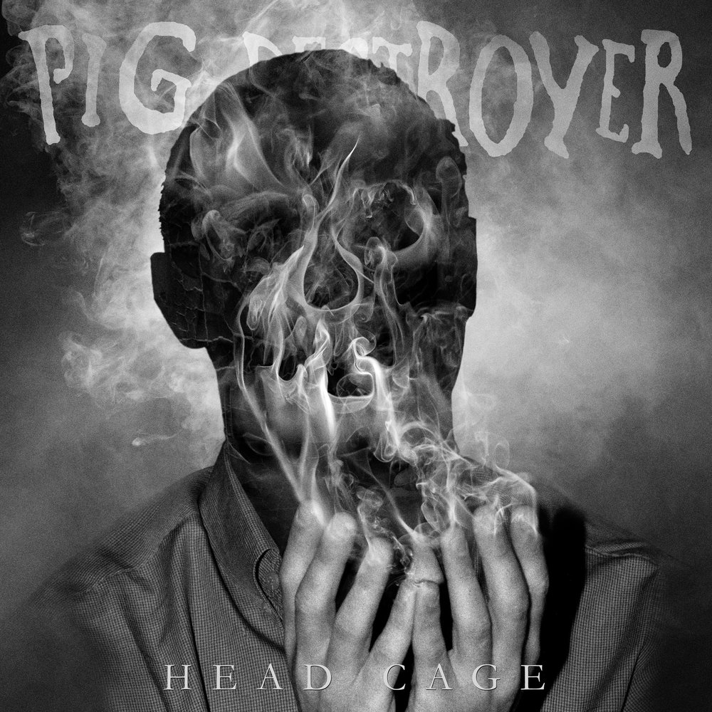 Album Art Credit: Mark McCoy  A visceral vortex of animalistic rage and extreme sonic brilliance,   Head Cage   is a true work of extreme metal art, that with the addition of a bass player, is hands down their most dynamic and heaviest recording to date. Across twelve tracks,  PIG DESTROYER  weave together harrowing tales of philosophical dualities,touching on mortality and depression, fear and violence, and the darkest complexities of the human condition, all told through the distorted lens of delightfully transgressive vocalist/lyricist JR Hayes. Musically, the band continues to push the boundaries of metal, grindcore, noise and punk, ramping up the intensity and leaving you bludgeoned in a state of utter shock, all in less than 33 minutes.    Head Cage   was recorded by guitarist Scott Hull at Visceral Sound Studios, mixed and mastered by Will Putney (Exhumed, Every Time I Die, Body Count) and features striking artwork by Mark McCoy (Full of Hell, Nothing) along with guest vocal appearances by  Agoraphobic Nosebleed's  Richard Johnson and Kat Katz plus  Full Of Hell's  Dylan Walker.  PLAY AT MAXIMUM VOLUME!       PIG DESTROYER Tour Dates:   Sep 22                 Manhattan, NY              Gramercy Theatre (Record Release Show)  Sep 28-29             Salt Lake City, UT         Crucialfest 8  Nov 03                 Sint-Niklaas, BE            Masters Of Grind  Nov 29                 Portland, OR                  Bossanova (w/ The Black Dahlia Murder)  Nov 30                 Berkeley, CA                 The UC Theatre (w/ The Black Dahlia Murder)  Dec 01-02            Los Angeles, CA            Decibel Metal & Beer Fest   OFFICIAL LINKS:    Pig Destroyer on Facebook    Pig Destroyer on Instagram    Pig Destroyer on Bandcamp