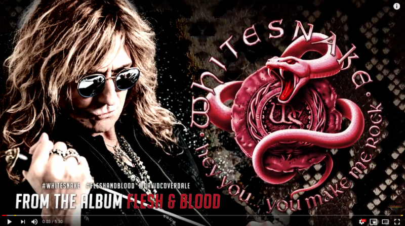 "Whitesnake  will release their new studio album "" Flesh & Blood "" via  Frontiers Music Srl on May 10th. Today they release the third single from the new album "" Hey You (You Make Me Rock) "" Listen to it  HERE :   https://youtu.be/hKMwGzOmtsE     Watch the video for the first single from the album "" Shut Up & Kiss Me ""  HERE:   https://youtu.be/hKMwGzOmtsE    Listen to the second single "" Trouble Is Your Middle Name""   HERE:   https://youtu.be/Rc69ZKmdDhM    "" Flesh & Blood "" will be available on CD/LP/Digital formats. See below for full details of the various configurations available.  Pre-order  ""Flesh & Blood ""  HERE :   http://radi.al/FleshAndBlood    Limited Edition Silver Vinyl (Limited to 300 copies WORLDWIDE), & more available from Frontiers' US webstore  HERE :   https://shop.bandwear.com/frontiers     Whitesnake  have already announced their first shows of the 2019 "" Flesh & Blood "" World Tour, which will feature songs from the new studio record alongside their biggest hits and songs from one of the greatest back catalogues in rock 'n' roll history, spanning over 40 years. For more information visit   www.whitesnake.com  . A complete list of dates can be found below.   WHITESNAKE W/ Black Moods US Tour:   4/12: Newkirk, OK @ 7 Clans First Council Casino*  4/13: Durant, OK @ Choctaw Casino*  4/15: Dallas, TX @ The Bomb Factory  4/17: San Antonio, TX @ Aztec Theater  4/19: Biloxi, MS @ IP Casino Resort*  4/20: Atlanta, GA @ State Bank Amphitheatre  4/22: Orlando, FL @ Hard Rock Live  4/23: Clearwater, FL @ Ruth Eckerd Hall  4/25: Hollywood, FL @ Seminole Hard Rock Casino*  4/26: Melbourne, FL @ Maxwell C. King PAC  4/28: Charlotte, NC @ Ovens Auditorium  4/29: Huber Heights, OH @ Rose Music Center  5/1: Richmond, VA @ Richmond, VA @ The National  5/2: Bensalem, PA @ XCITE Center at Parx Casino*  5/4: Columbia, MD @ M3 Festival#  5/5: Jim Thorpe, PA @ Penns Peak  5/7: Sayreville, NJ @ Starland Ballroom  5/8: Huntington, NY @ The Paramount  5/10: Hampton Beach, NH @ Hampton Beach Casino  5/11: Lincoln, RI @ Twin River Casino*  5/14: Greenville, PA @ The Palace Theatre  5/17: Verona, NY @ Turning Stone Casino*  5/18: Niagara Falls, NY @ Seneca Niagara Casino*   European Tour:   6/12: Tilburg, NL @ 013  6/14: Donnington, UK @ Download Festival #  6/17: Prague, CZ @ 02 Arena **  6/19: Milan, IT @ Mediolanum Forum **  6/20: Zurich, CH @ Rock the Ring Festival #  6/22: Clisson, FR @ Hellfest #  6/23: Dessel, BL @ Graspop Metal Meeting #  6/25: Budapest, HU @ Barba Negra Track  6/27: Zajecar, RS @ Gitarijada Festival #  6/29: Plovdiv, BG @ Hills of Rock Festival #  7/1: Bucharest, RO @ Arenele Romane  7/3: Zagreb, CR @ SRC Salata  7/5: Sered, SK @ Sered Amphitheatre  7/7: Cologne, DE @ Palladium  7/10: Gavle, SE @ Furuviksparken *  7/15: Saint Petersburg, RU @ Bkz Oktyabrski Theatre  7/17: Moscow, RU @ Crocus City Hall   *WHITESNAKE Only    #Festival Appearance     ** With Def Leppard    For further announcements and information please follow:    Web :   www.whitesnake.com     Instagram :   https://www.instagram.com/whitesnake/     Facebook :   https://www.facebook.com/Whitesnake.official/     Twitter :   https://twitter.com/Whitesnake   
