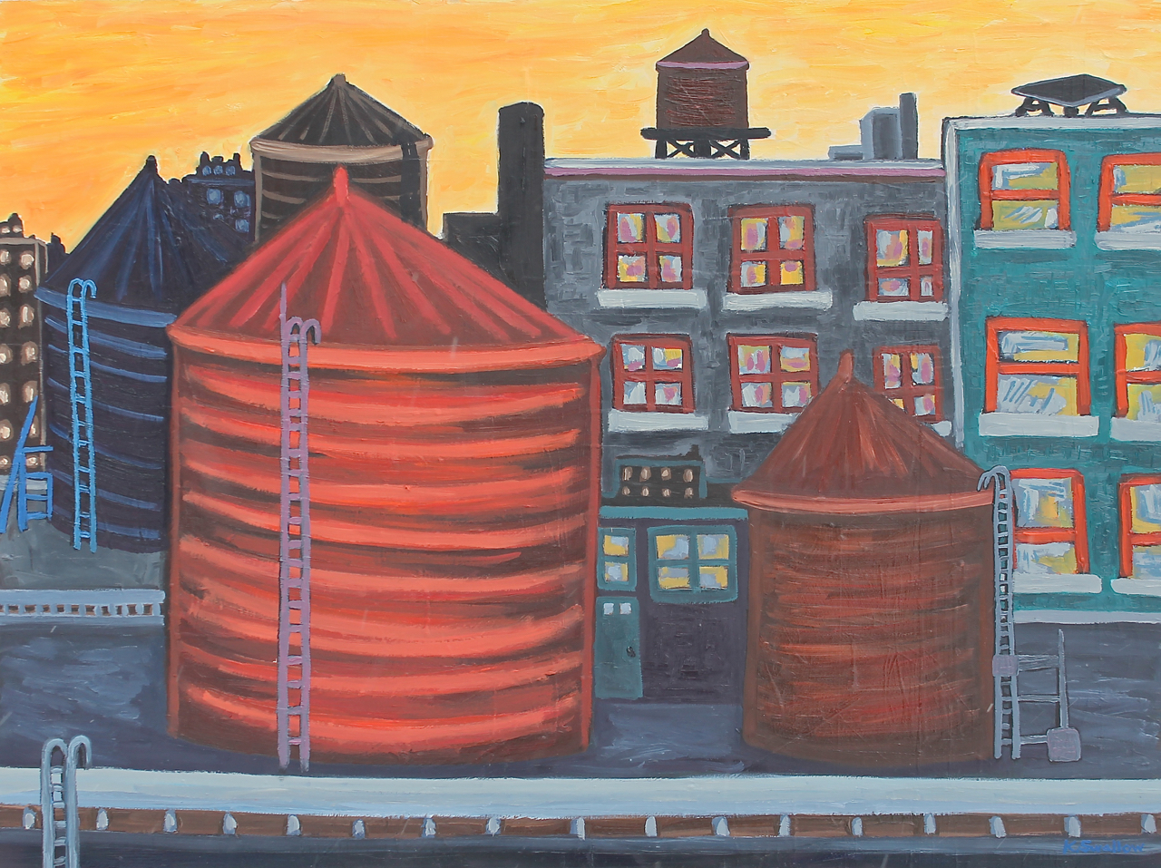 Lofty Towers, oil on panel, 30x40, 2015, $600