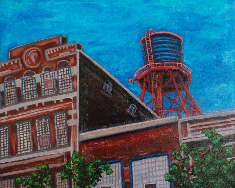Wicker Park - Milwaukee Ave., acrylic on canvas, 24x30, 2012, SOLD