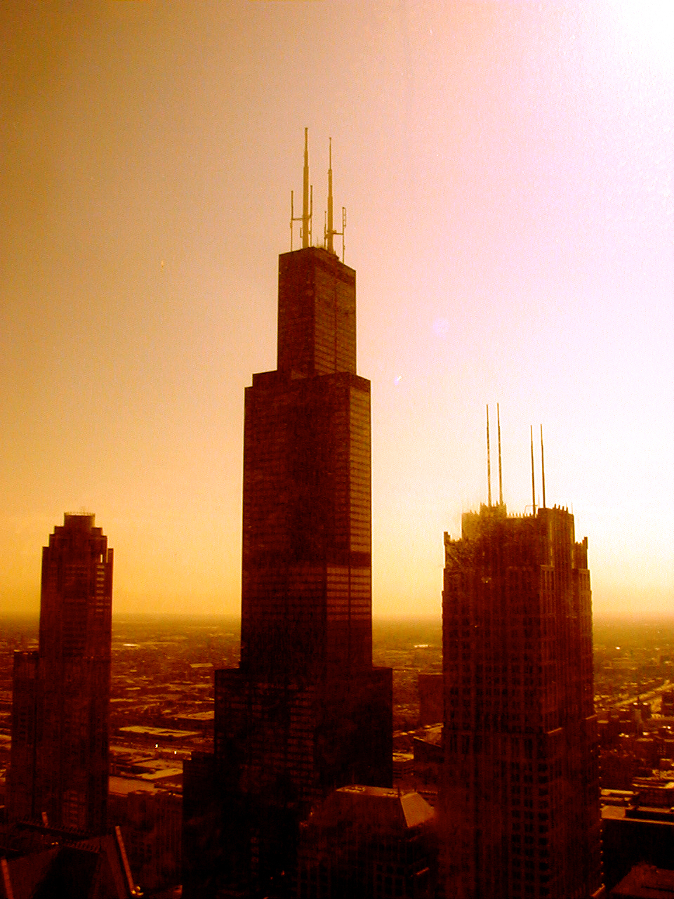 56 Stories Up (Sears Tower), digitally enhanced photograph, 2003