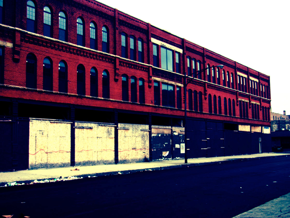 West Loop (red), digitally enhanced photograph, 2003