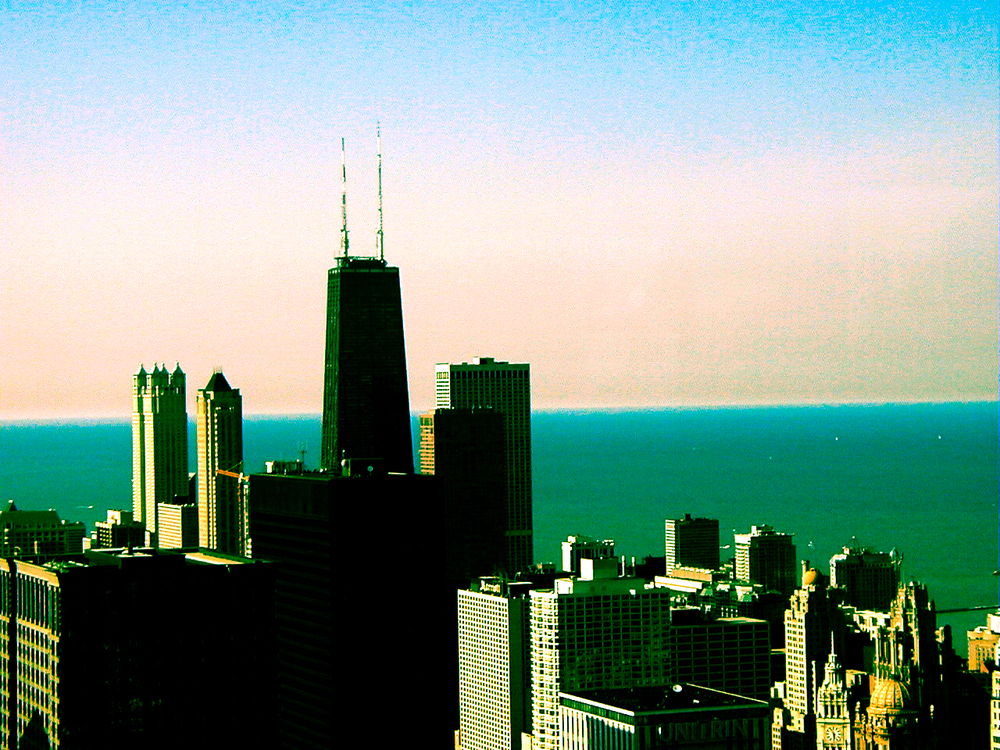 56 Stories Up (Hancock), digitally enhanced photograph, 2003
