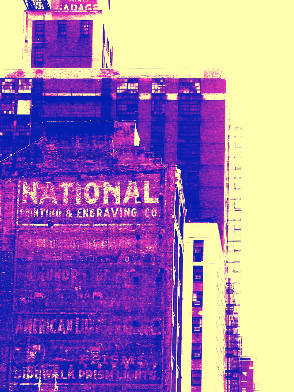 Chicago South Loop (purple), digitally enhanced photograph, 2002