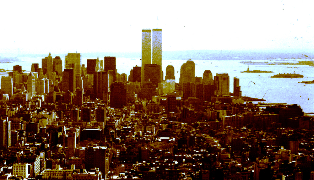 View from Empire State Building, digitally enhanced photograph, 1999/2002