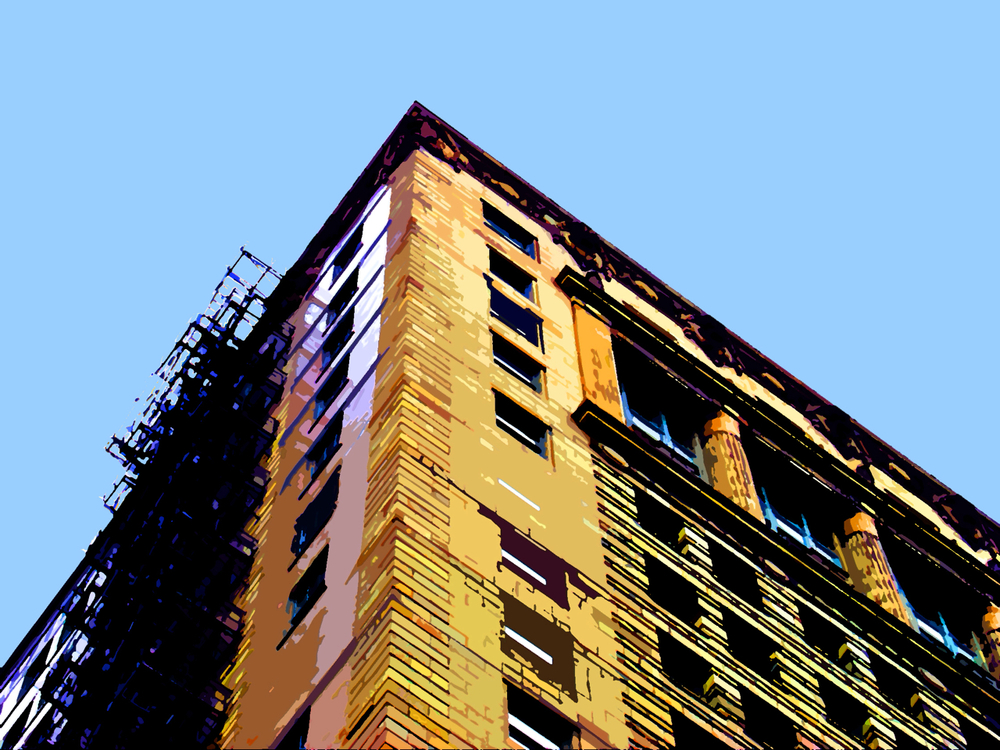 Fire Escapes, digitally enhanced photograph, 2011