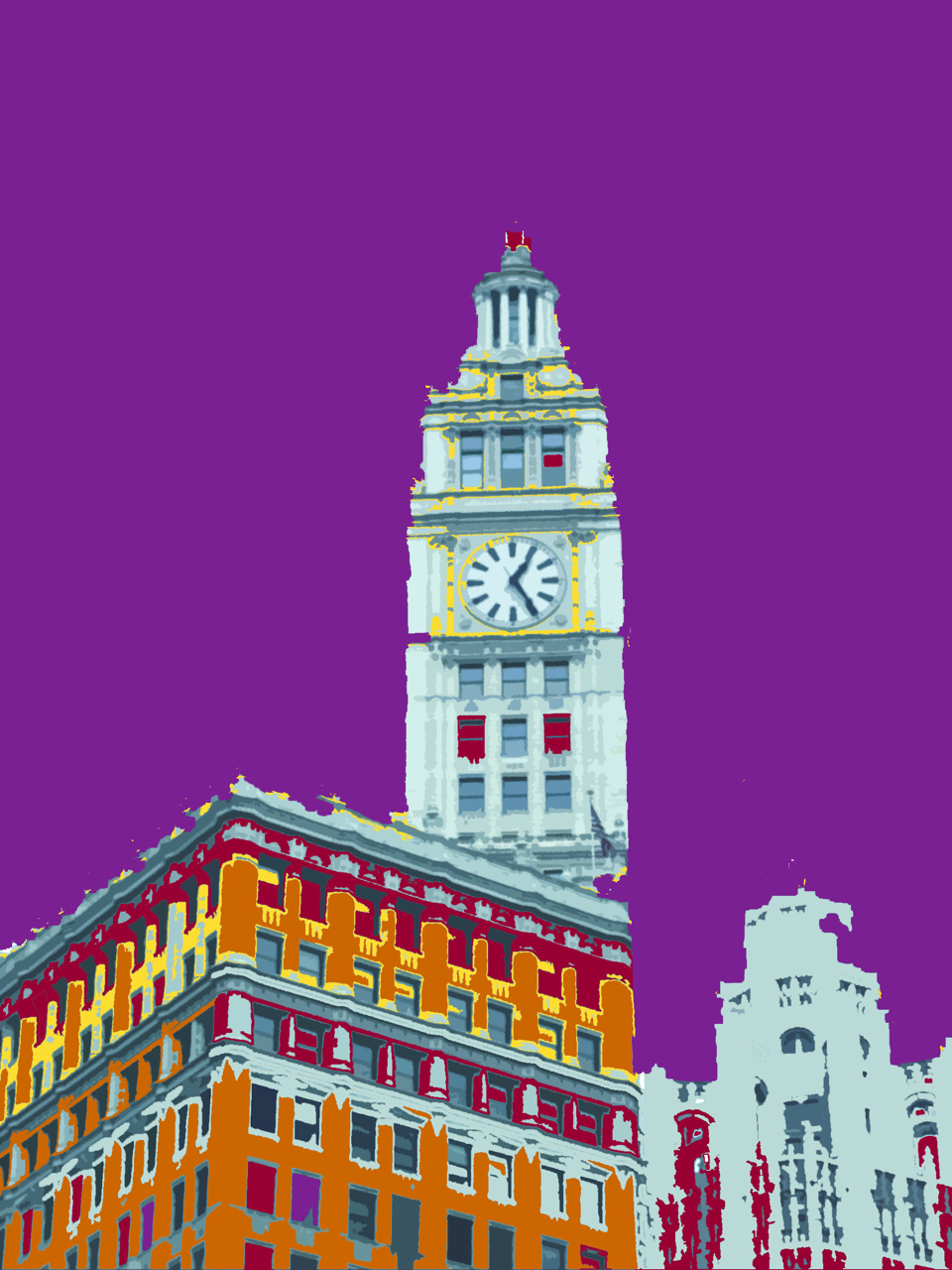 Wrigley Building, digitally enhanced photograph, 2006