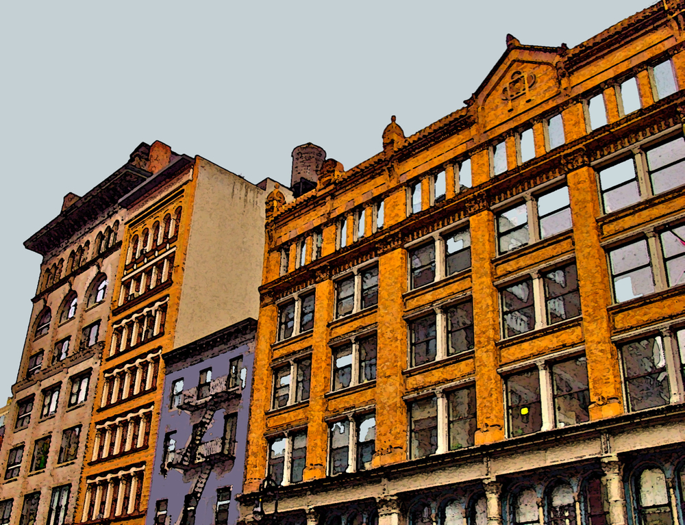 SoHo Foursome (New York), digitally enhanced photograph, 2009