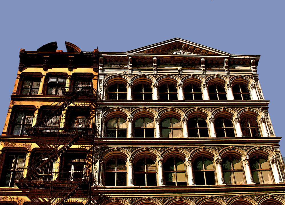 SoHo Lofts (New York), digitally enhanced photograph, 2009