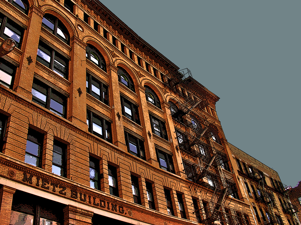 Mietz Building (New York), digitally enhanced photograph, 2009