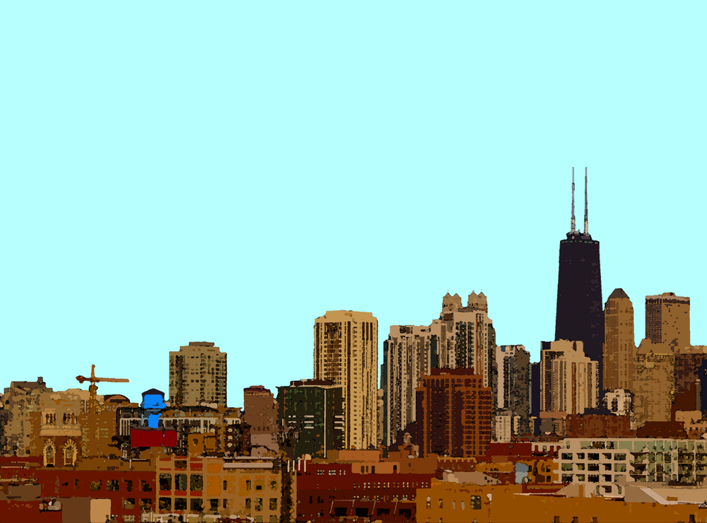 Hancock and Skyline, digitally enhanced photograph, 2011