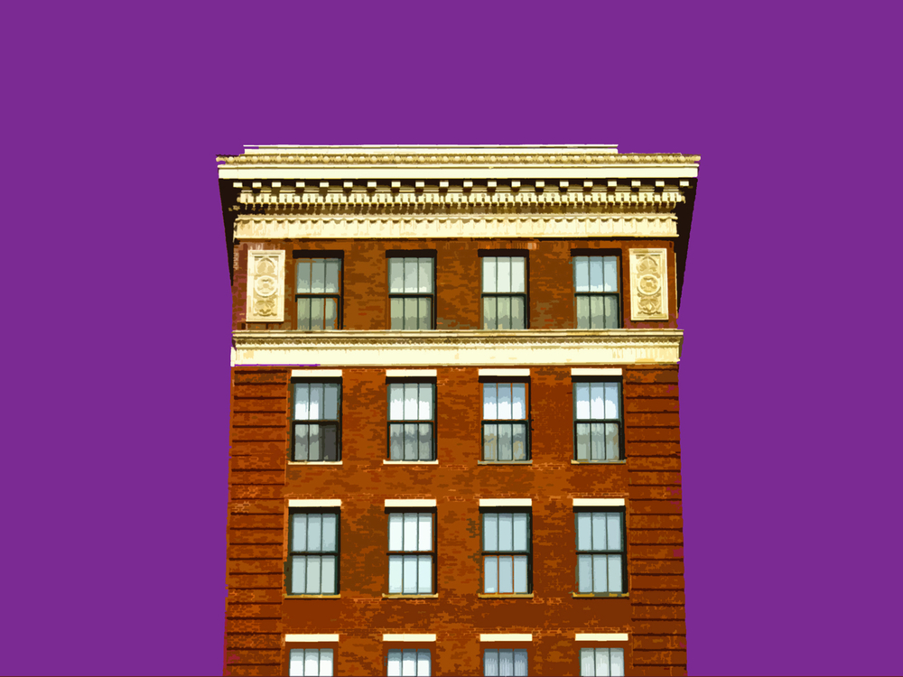 Towering Above South Wabash, digitally enhanced photograph, 2005