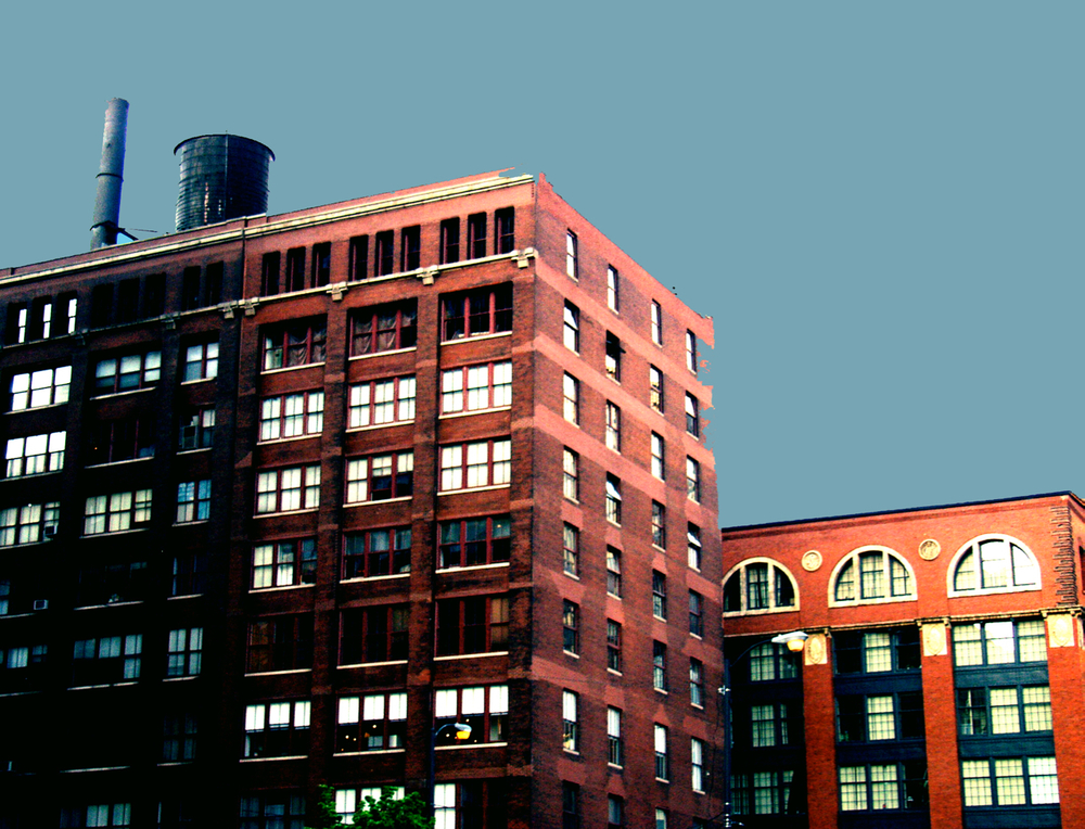 South Loop Watertank (Printer's Row), digitally enhanced photograph, 2005