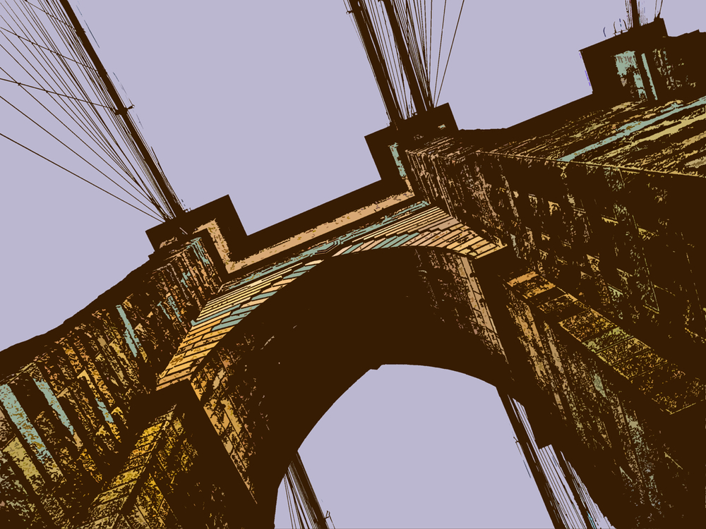 Brooklyn Bridge (New York), digitally enhanced photograph, 2009