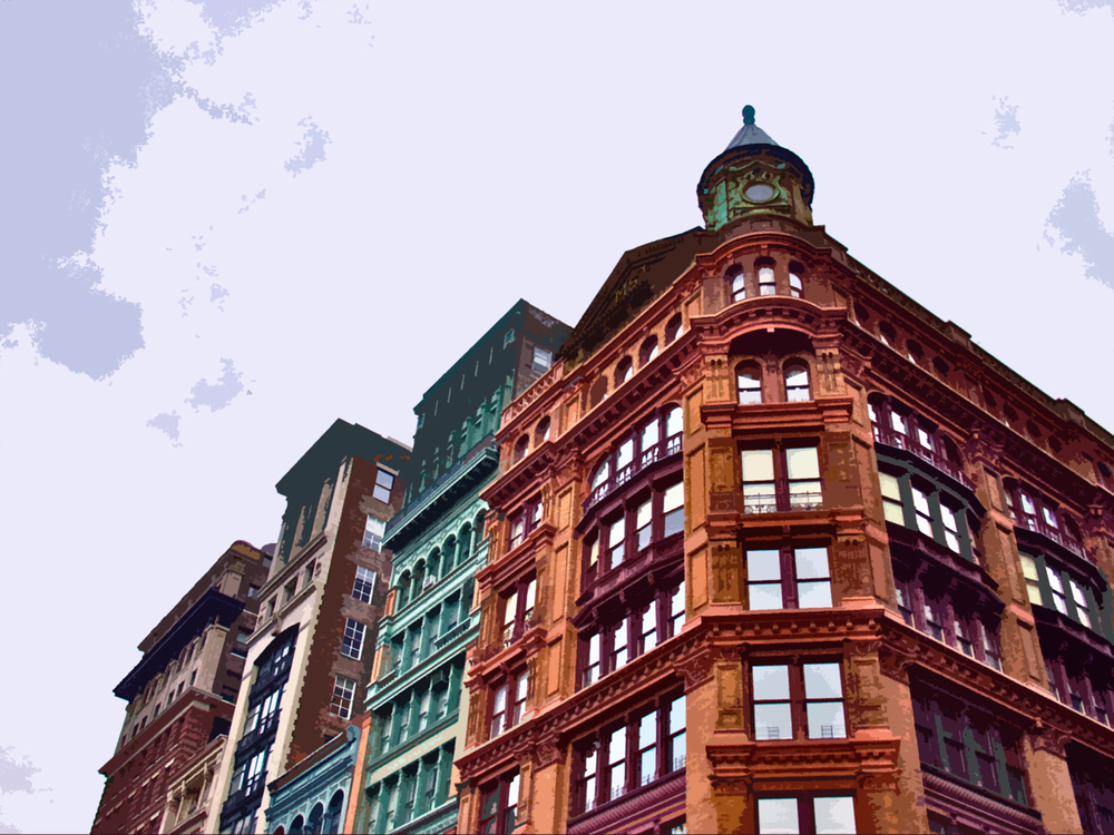 SoHo Corner (New York), digitally enhanced photograph, 2009
