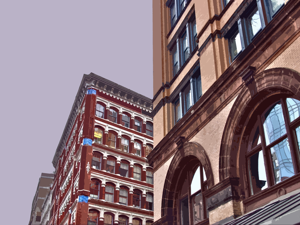 SoHo Angles (New York), digitally enhanced photograph, 2009