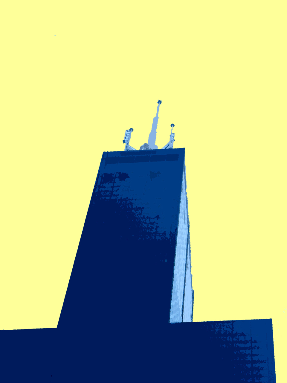 Towering Heights, digitally enhanced photograph, 2011