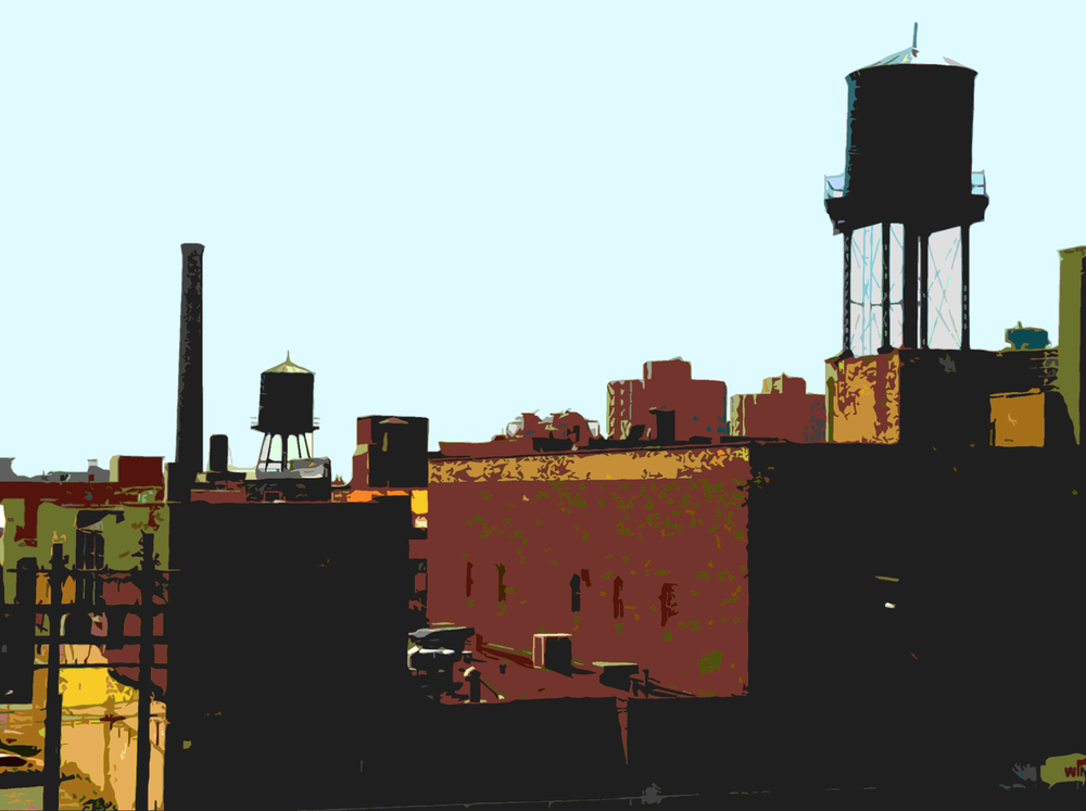 South Loop Warehouses, digitally enhanced photograph, 2013