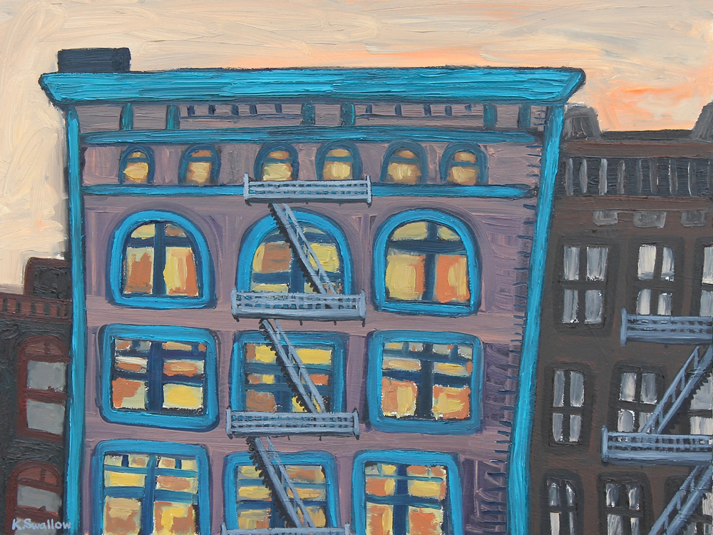 SoHo, oil on panel, 18x24, 2014, SOLD
