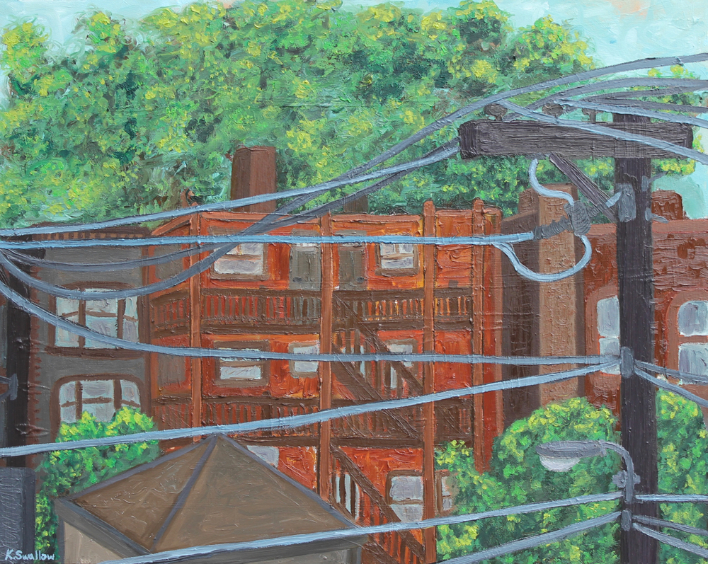 Alley Wires, oil on canvas, 24x30, 2013, AVAILABLE