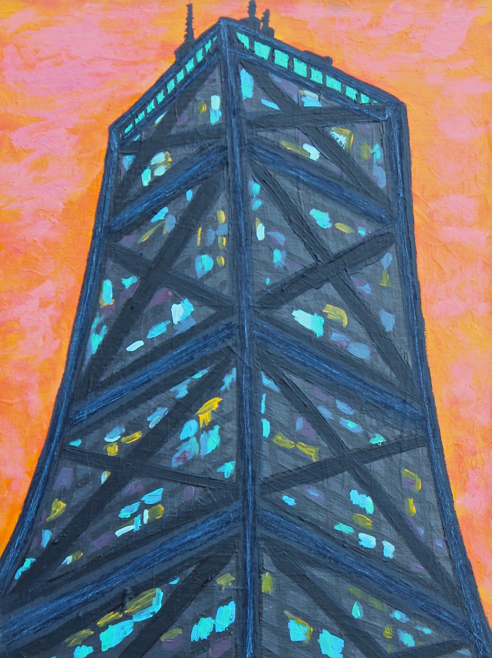 Dreamsicle Hancock, acrylic on panel, 24x18, 2013, SOLD