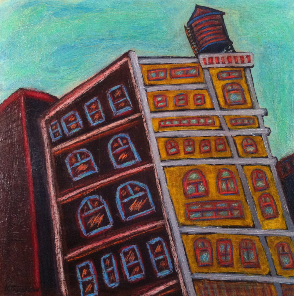 Tribeca, acrylic on panel, 24x24, 2011, AVAILABLE