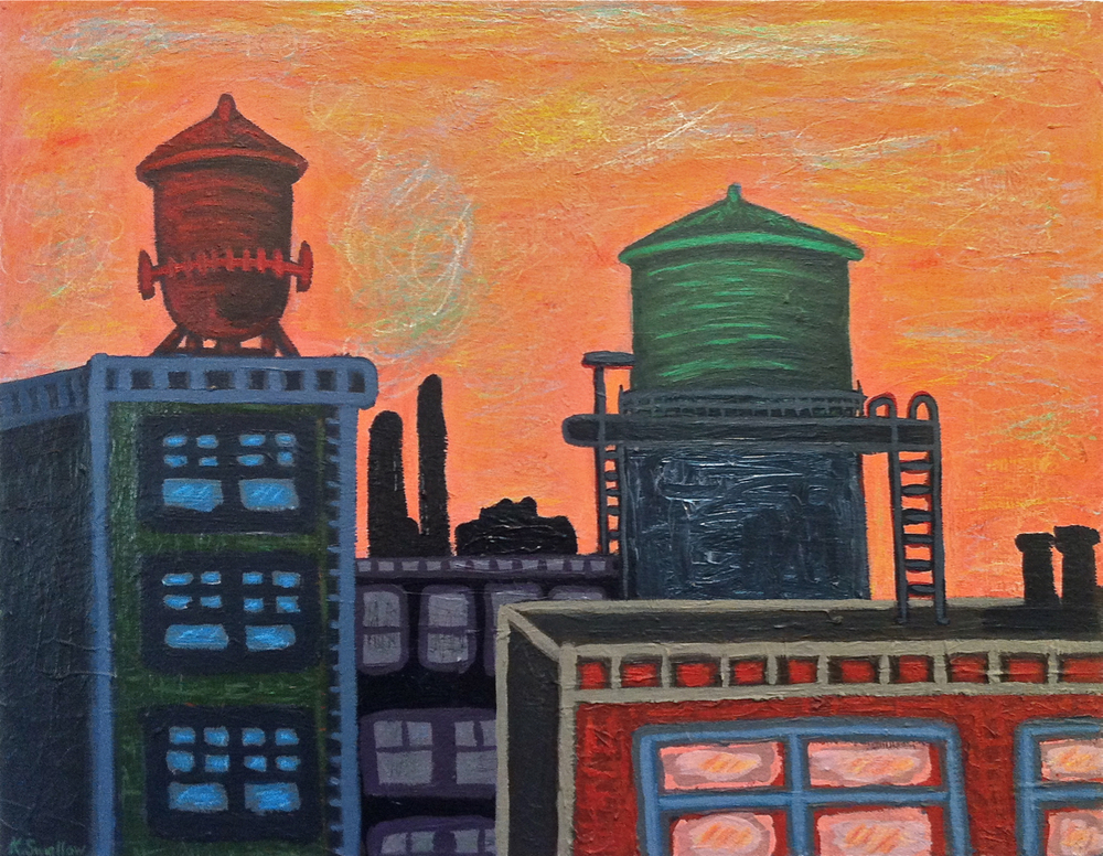 Warehouse District, acrylic on canvas, 22x28, 2012, SOLD