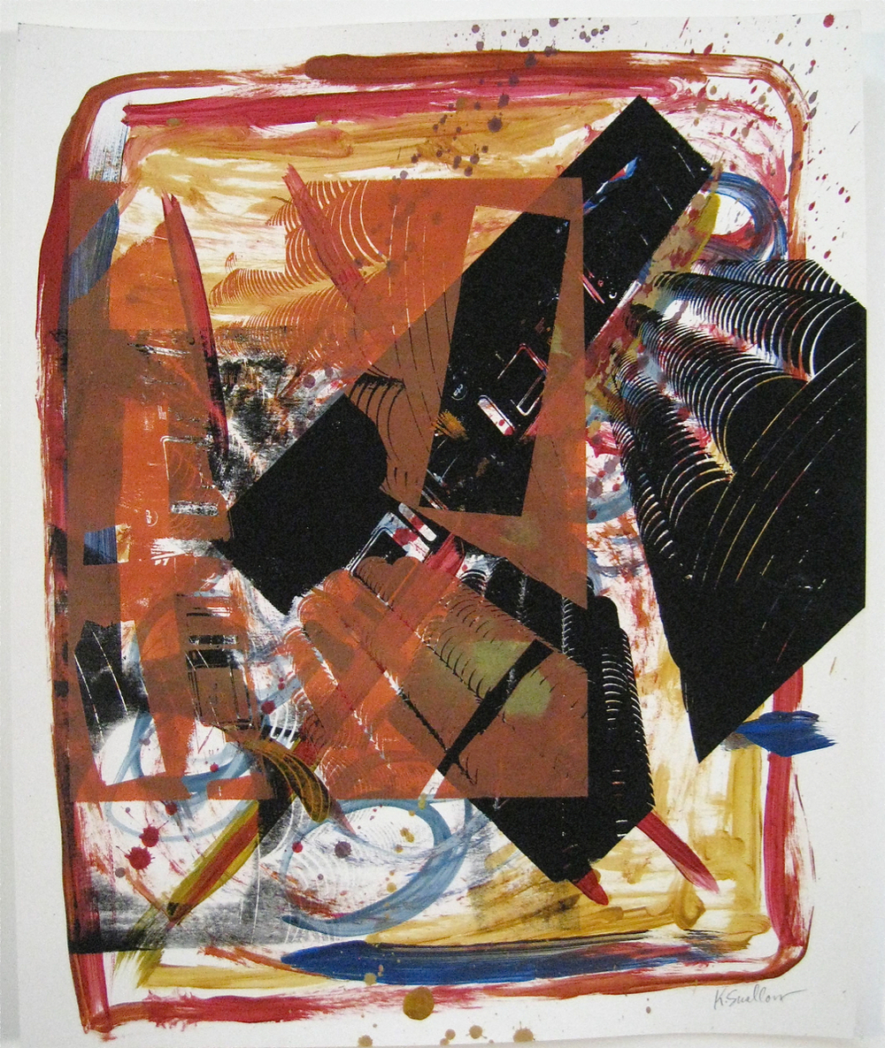 El Marina, screen print on paper, 14x17, 2008, AVAILABLE