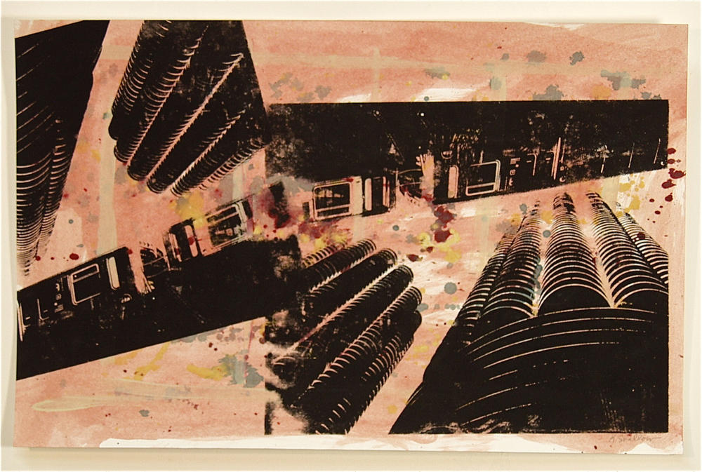 El Marina, screen print on paper, 11x17, 2008, SOLD