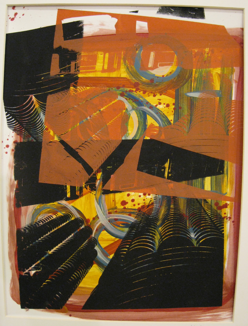 El Marina, screen print on paper, 14x17, 2008, SOLD