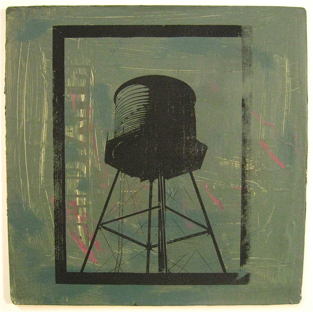 Blind Faith Revealed, screen print on record album, 12x12, 2009, SOLD