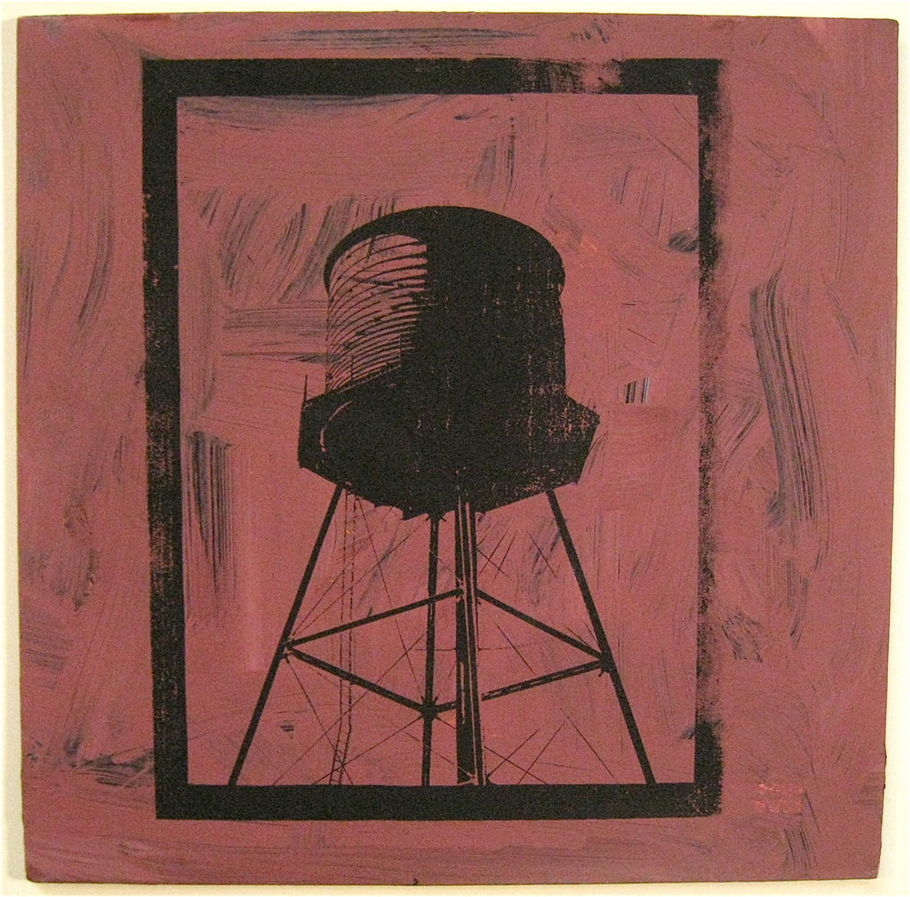 Pinky, screen print on record album, 12x12, 2009, SOLD