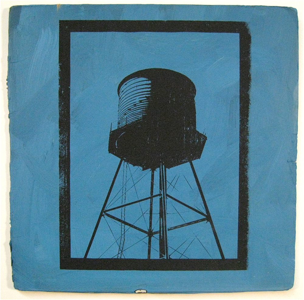 Beatles Blue, screen print on record album, 12x12, 2009, SOLD