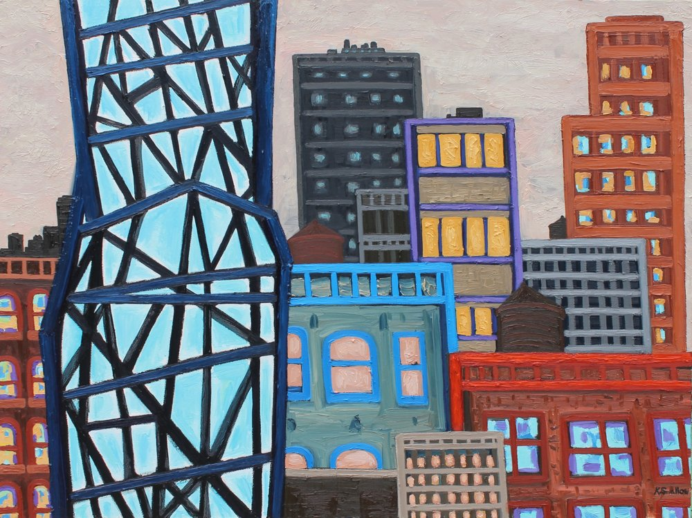 South Loop Skyscraper , oil on canvas, 36x48, 2017