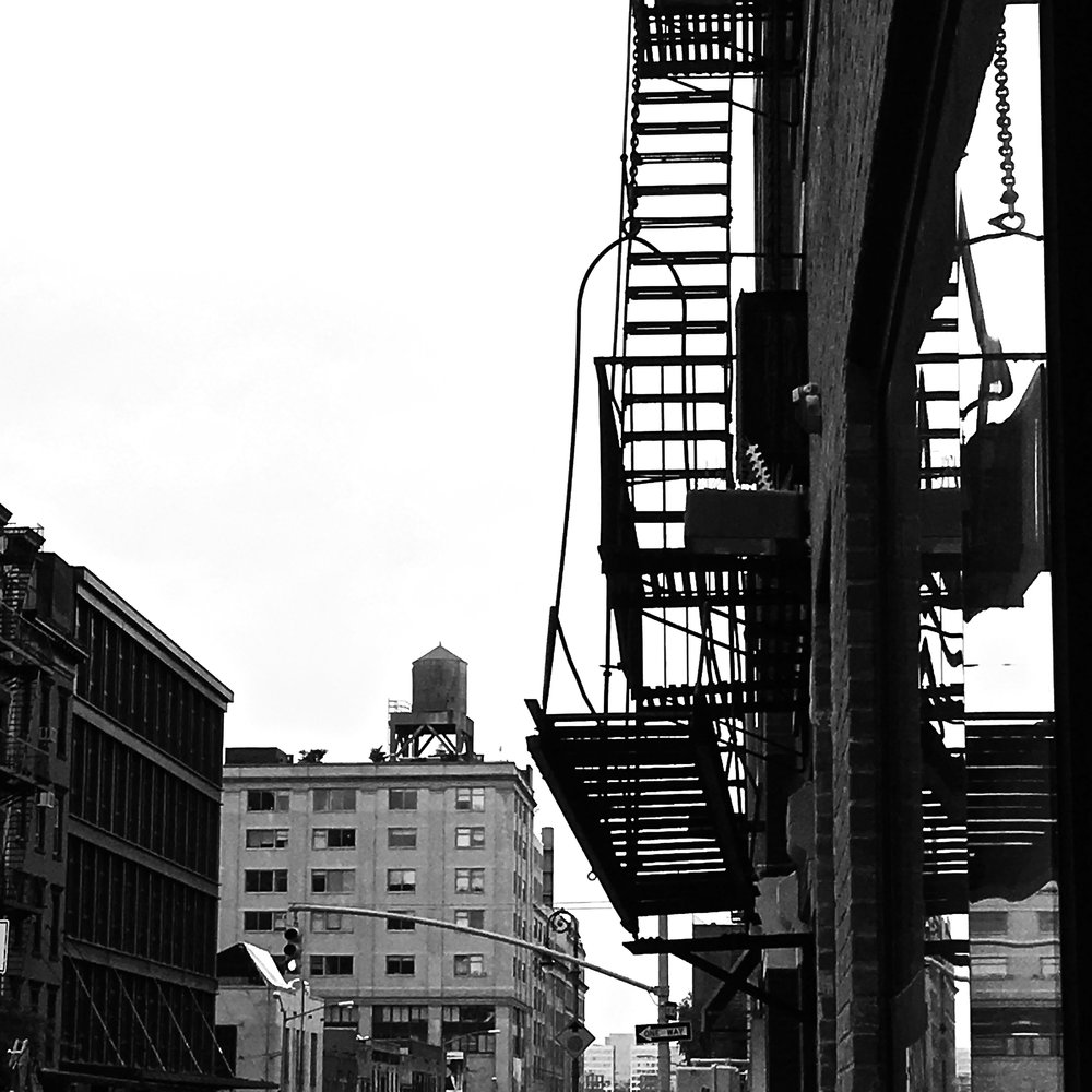 Fire Escape Reflection (NYC), photograph, 2016