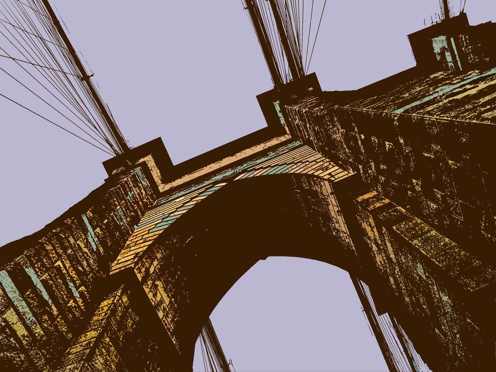 Brooklyn Bridge (New York), digitally enhanced photograph, 2009.jpg