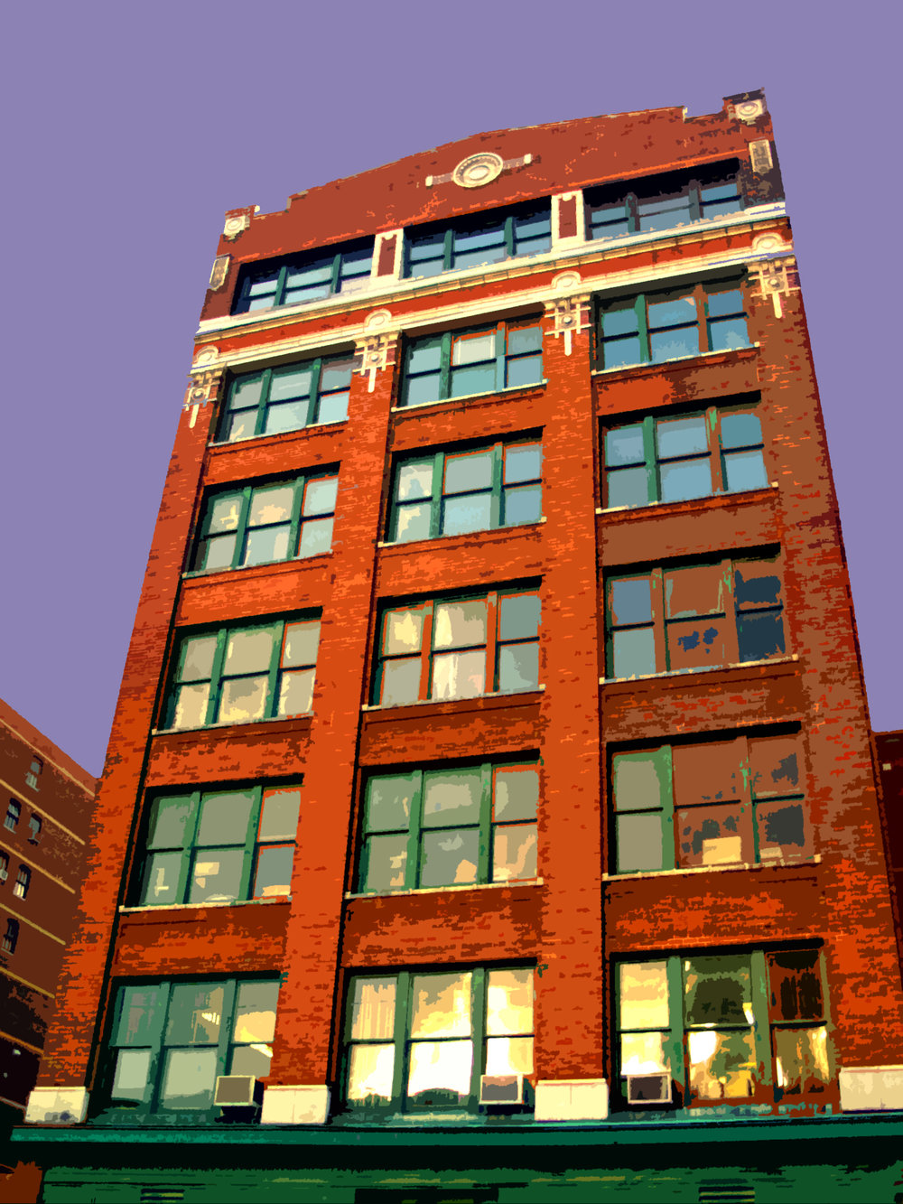 South Loop Warehouse, digitally enhanced photograph, 2005