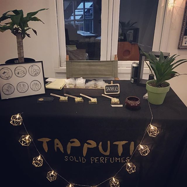 Had a wonderful time at the @extraordinaryoracle Full Moon Market yesterday! We sold out of FJORD within the first two hours 💛 Thanks to everyone who came out and sorry I'm the worst and forget to post during the actual event 🙃. #nashvillesmallbusiness  #solidperfumes #solidperfume #perfume #perfumes #beardbalm #tapputisolidperfumes #shoplocal #fullmoonmarket