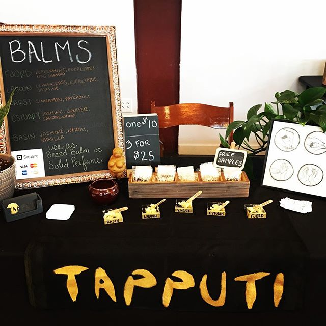 Selling at the @nashvillecuriosities Rotten Revival at @fatbottombrews until 8pm today. Come on by! Free smells!  #nashvillesmallbusiness  #solidperfumes #solidperfume #perfume #perfumes #beardbalm #tapputisolidperfumes #shoplocal #nashvillecuriositiescollective #balms