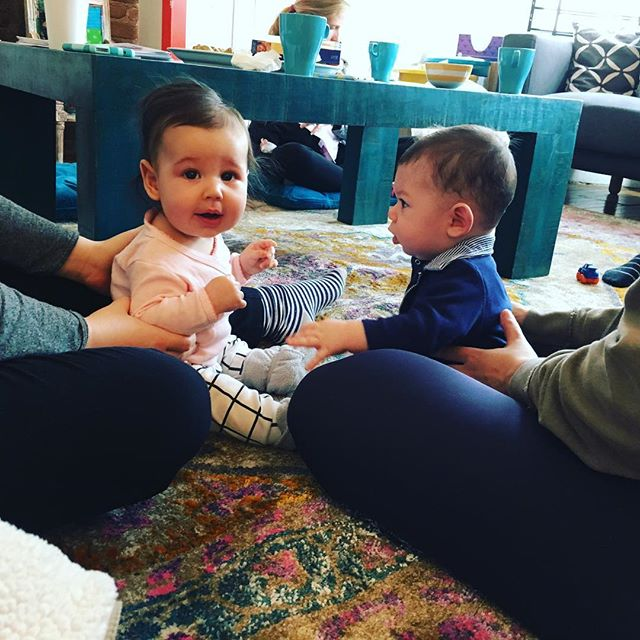 Babies, babies, and more babies. Seven mamas came today to Bites with Babies. Join us next Friday and connect with more mamas! BUT Tomorrow come for prenatal yoga!! #brooklynbabies #welovebabies #newmamas #brooklynmom @nurturebklyn