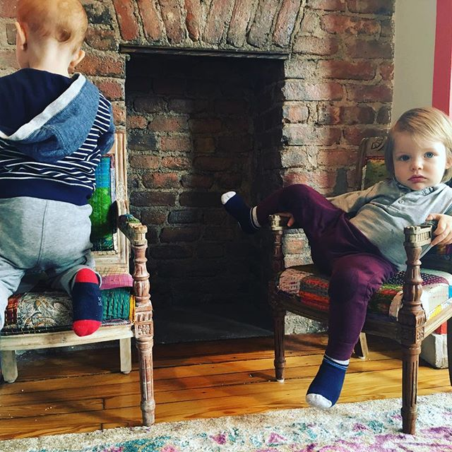 Just kickin' back enjoying open play @nurturebklyn !! #toddlerfun #boys💙 #wedontwanttoleave