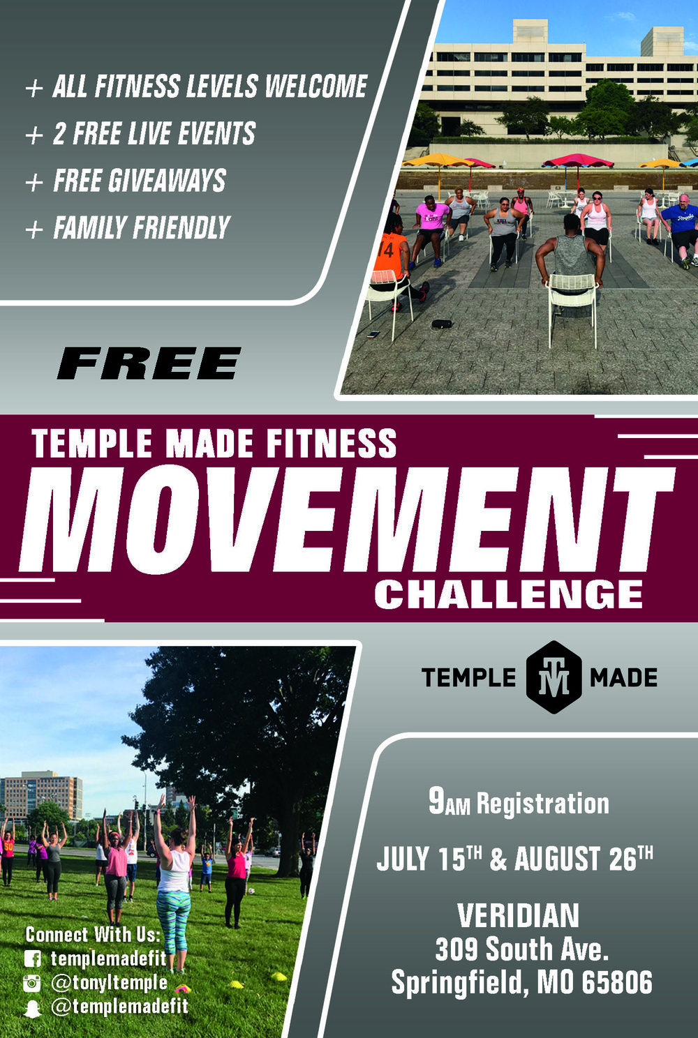 Register Today!   https://www.eventbrite.com/e/2017-temple-made-fitness-movement-challenge-powered-by-sumits-hot-yoga-tickets-35934063752?utm-medium=discovery&utm-campaign=social&utm-content=attendeeshare&aff=escb&utm-source=cp&utm-term=listing