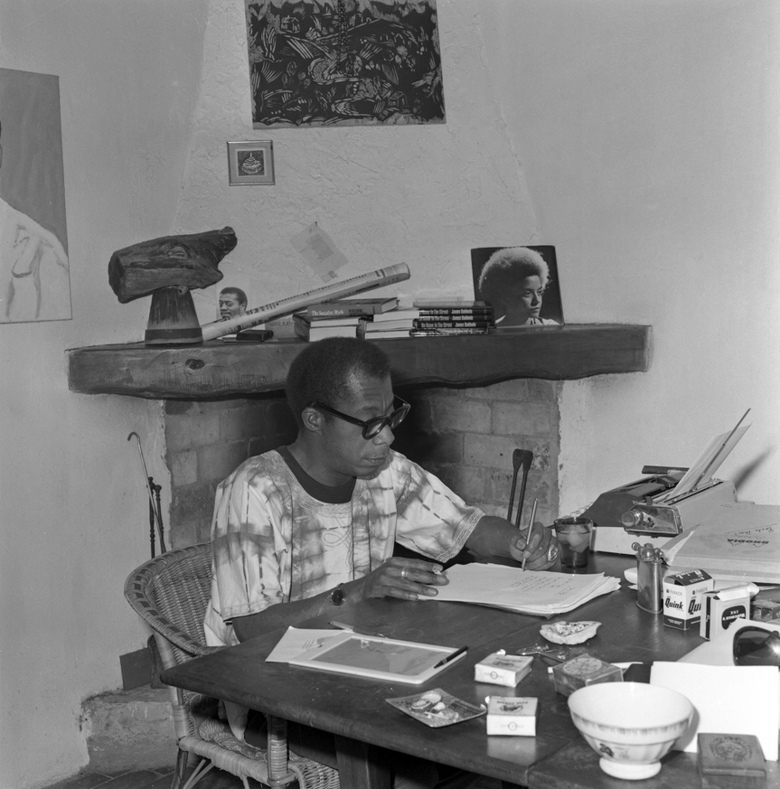 James Baldwin in his house in Saint-Paul de Vence